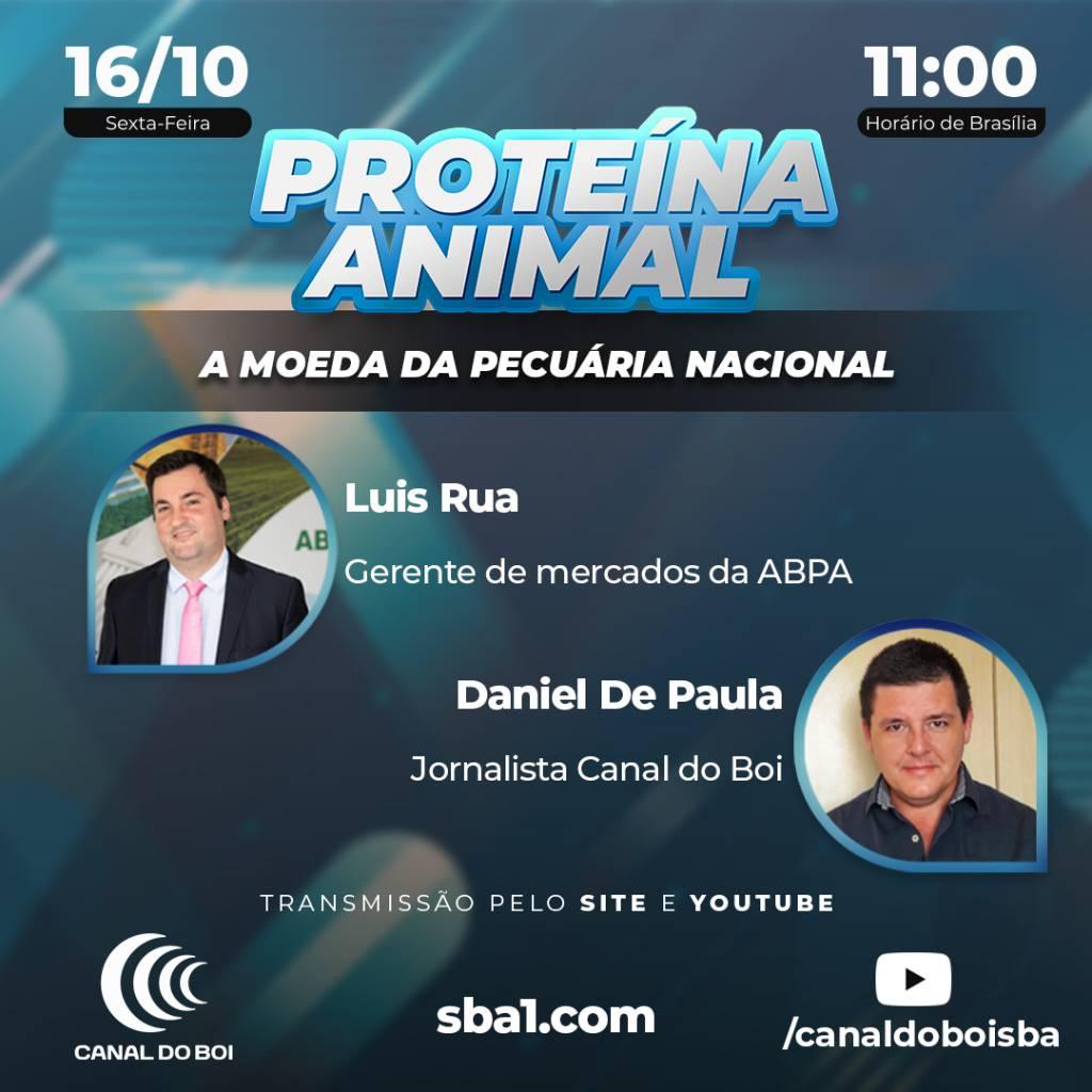""""""" PROTEÍNA ANIMAL: A MOEDA DA PECUÁRIA NACIONAL', É TEMA DA PRÓXIMA LIVE DO CANAL DO BOI."""